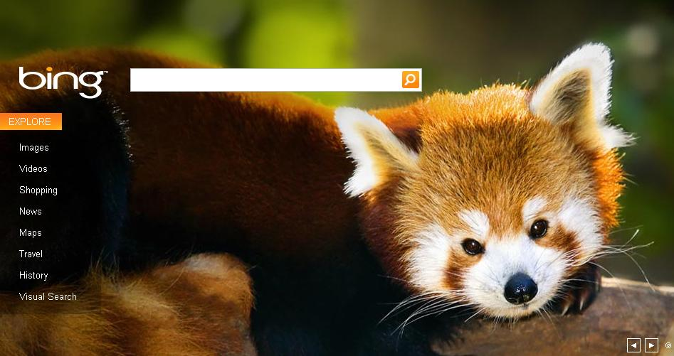 Bing – Clien d'oeil à Mozilla