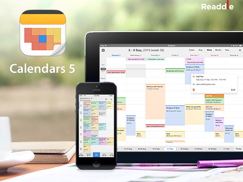 Calendars 5 un beau calendrier pour iPhone & iPad