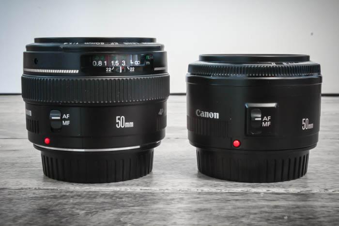 Canon 50 1.4 vs 50 1.8